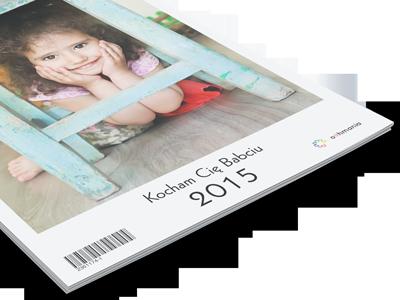 Jeśli kalendarz jest prezentem masz możliwość umieszczenia własnego tytułu na okładce pod zdjęciami.