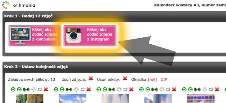 Dodawanie zdjęć z Instagrama bezpośrednio w edytorze w Ouhmania.pl