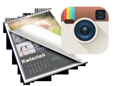 Jeśli korzystasz z serwisu Instagram możesz wczytać znajdujące się tam zdjęcia bezpośrednio do edytora i wykorzystać je w kalendarzu.