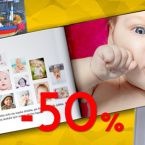 Fotoksiążki 50% taniej