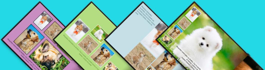 Spójrz na obrazek powyżej. Te same zdjęcia i ten sam tekst a zupełnie inne książki. Na tym właśnie polega nasze podejście. Najpierw tworzysz treść, ustalasz które zdjęcia na której stronie i piszesz tekst. Na końcu skupiasz się na formie. Zmieniasz projekty i patrzysz jak będzie wyglądać twoja fotoksiążka. Aż do momentu kiedy już będziesz zadowolony(a). Prawda, że takie podejście jest najbardziej naturalne? Oczywiście! Tylko dlaczego w innych serwisach jak chcesz w trakcie edycji fotoksiążki zmienić projekt to musisz zacząć całą pracę od początku?