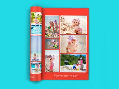 Fotoksiążka to przede wszystkim zdjęcia. W naszej fotoksiążce można umieścić ich bardzo dużo. Aż 6 na jednej stronie. To naprawdę sporo ale kartka w książce A4 jest na tyle duża, że 6 zdjęć będzie się dobrze prezentować. W 40 stronicowej książce możesz umieścić nawet 240 zdjęć. Oczywiście wiele zdjęć to wiele czasu na ich układanie. W naszym edytorze jest to jednak maksymalnie uproszczone. Wybierasz tylko, które zdjęcie ma się znaleźć, na której stronie a nasz system sam inteligentnie je rozkłada zgodnie z wybranym projektem.