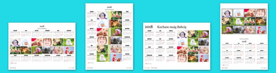 Dla kalendarzy jedno-planszowych udostępniamy kilka projektów, zarówno w układzie pionowym jak i poziomym.