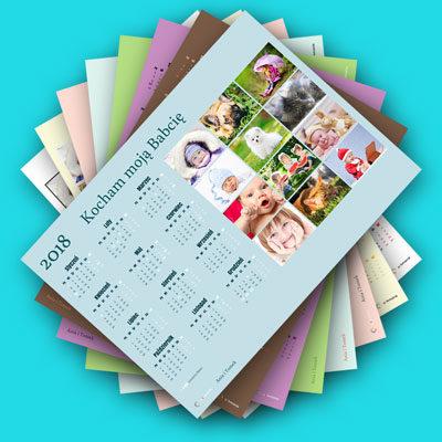 Dostępnych jest wiele kolorów kalendarza.